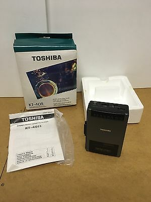 Toshiba Walkman KT-4011 Boxed With Instructions. Vintage Rare Cassette Player