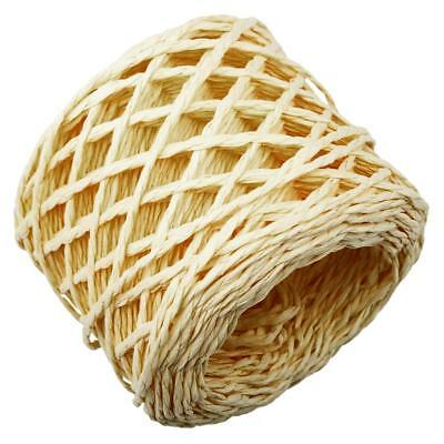 30 Metres Yellow Raffia Rope Twine String Cords Craft for DIY Gift Wrapping