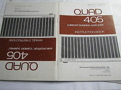 QUAD original 405 user booklet in FRENCH & ENGLISH very rare not many ever made!
