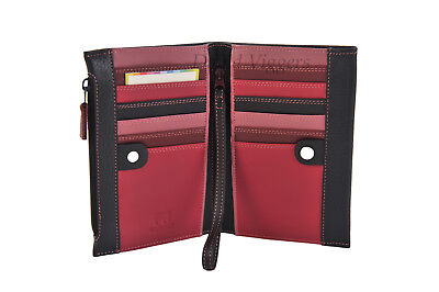 Mywalit Medium Slim 12 Card Wallet Purse with Wristlet + FREE COIN PURSE - 1165