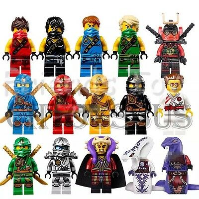 15 Pcs/set Ninjago Jay Kai Cole Lloyd Nya Mini Figures Fits Lego