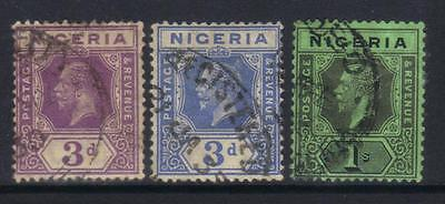 Nigeria 1921-1932 Defins 3 Used Values