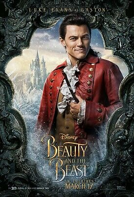 Beauty and the Beast 2017 Gaston A4 Movie Poster Print