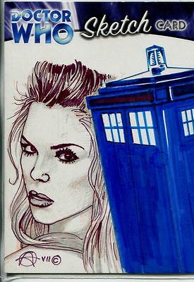 Doctor Who Trilogy Sketch Card By Chris Achilleos