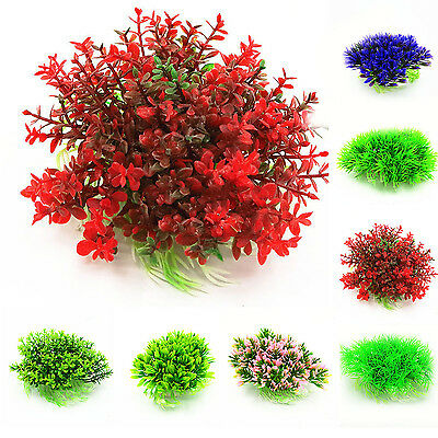 COOL Purple Aquarium Fish Tank Decoration Underwater Water Plant Hide Ornament
