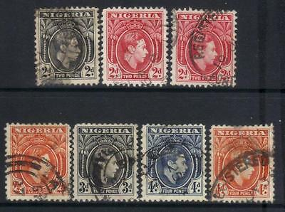 Nigeria 1938-1951 Defins 7 Used Values