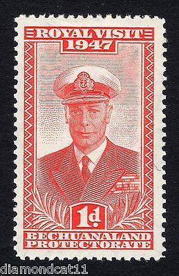 1947 Bechuanaland 1d Red  Royal Visit SG 132 Mounted Mint R13767