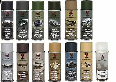 BW Army Spray cans Varnish Camouflage Military color 400 ml (13,50€/L)Clear