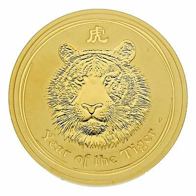 "2 oz Australien 2010 Lunar Serie II ""Year of the Tiger"" 2 Unzen 999,9 Goldmünze"