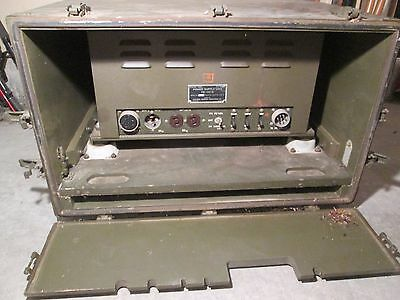 Vintage Military Radio PE-110D Power Supply & Chest CH-294 WW2 Jeep