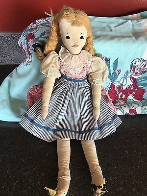 1930's Vintage Feed sack ALL Handmade Doll