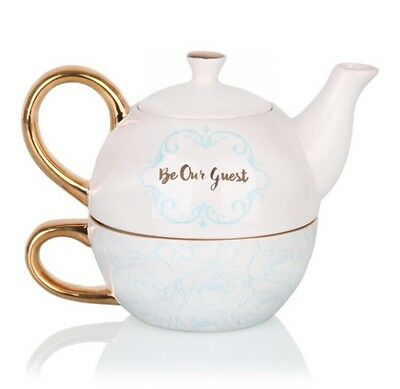 Disney Beauty And The Beast Tea For One Teapot Cup Plate Mug Set Live Action
