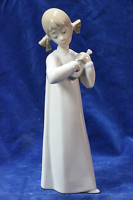 LLADRO FIGURE GIRL WITH GUITAR by F. García #4871 VINTAGE figurine retired