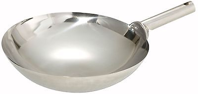 Winco WOK-16W Stainless Steel Wok with Welded Joint Handle, 16-Inch
