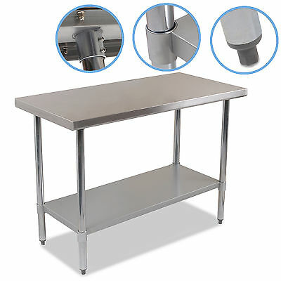 Industrial-Commercial-Stainless-Steel-Kitchen-Food-Prep-Shelf-Work-Table