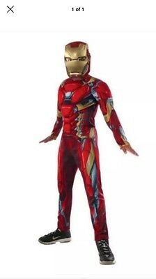 Nwt Marvel Iron Man Muscle Chest Halloween Costume Muscle Chest Sz L 10-12 No He