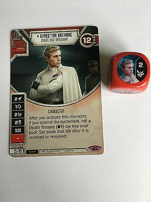 Director Krennic, Star Wars Destiny Legendary Card + Die
