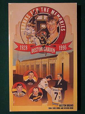 1994-95 NHL Media Guide Boston Bruins - Orr on cover, Guide and Record book