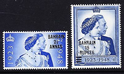 Bahrain 1948 Royal Silver Wedding Sg 61-62 Mnh.