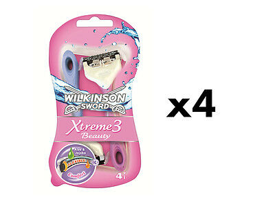 Wilkinson Sword Xtreme 3 Beauty Disposable Razors - 16 Pack