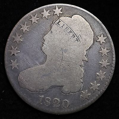 1820 Capped Bust Half Dollar CHOICE FREE SHIPPING E188 CTX