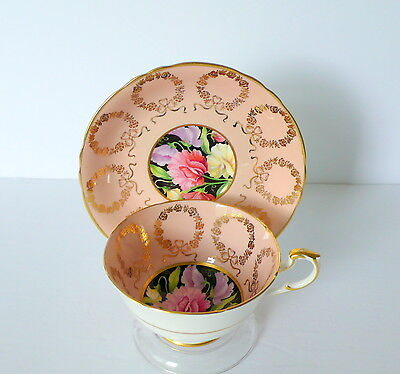 Paragon Peach Floral Bone China Cup & Saucer Set