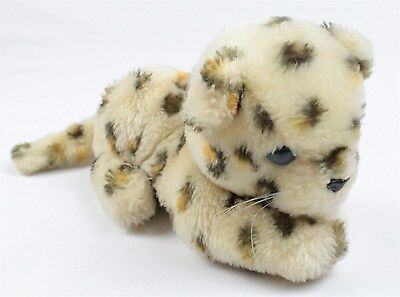 "Dakin Vintage 1981 Stuffed Plush 8"" x 4"" Animal Cheetah Leopard"