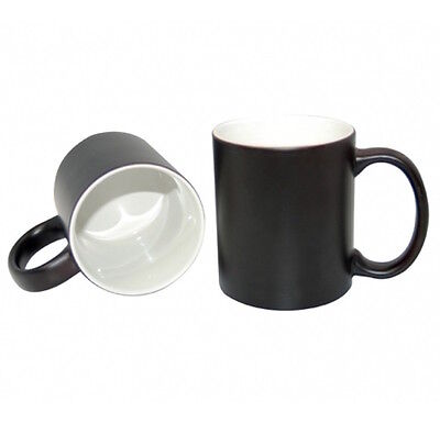 Sublimation Mugs, Colour Changing, Black 11oz, 48 Individually Boxed, A+Quality