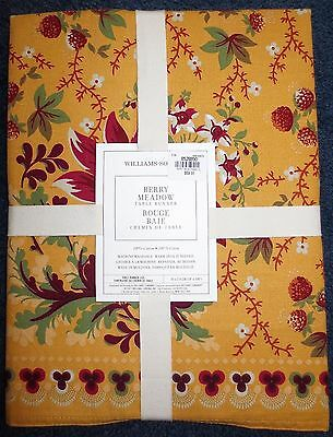 """Williams-Sonoma Berry Meadow Gold 18""""x108"""" Table Runner French Country NEW"""