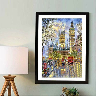 Diamond Painting City Bus Landscape Embroidery Rhinestone Home Decoration HomeHH