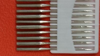 10 of Standard flat backed sewing machine needles, choose 70/9, 80/11, 90/14. UK