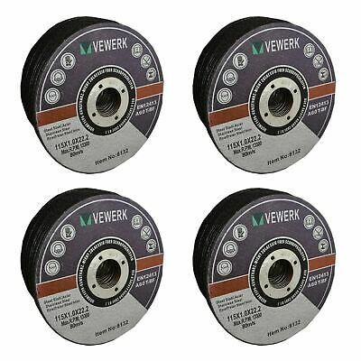 "Thin Metal Steel Cutting Discs For 4-1/2"" Angle Grinder 115mm x 1mm Pack of 100"