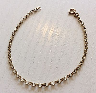 Lovely Ladies Dainty Vintage 9ct Gold Pretty Little Belcher Bracelet