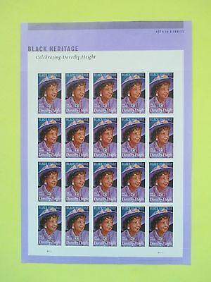 US Stamps FOREVER Dorothy Height Sheet 2015 Black Heritage - FAST Shipping