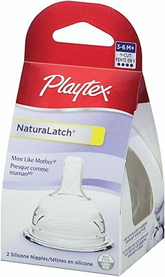 Playtex NaturaLatch Y-Cut Nipple, 2-Count
