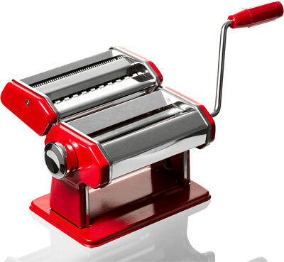 Professional Stainless Steel Chef Red Pasta Maker - Machine Roller Noodle Maker