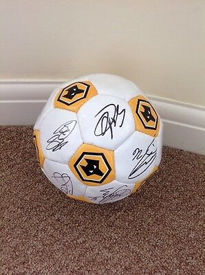 Signed football by the wolverhampton wanderers squad 2015/2016