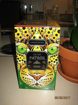 2017 Mexican Heritage Tin Silver Patron Tequila 100% De Agave Limited Edition