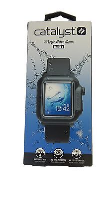 Catalyst Series 1 Waterproof Case and Band for Apple Watch 42mm - Black NEW