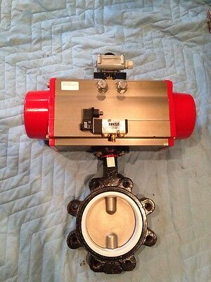 "Triac Actuator 2r850sr With 6"" Butterfly Valve And Limit Switch Box"