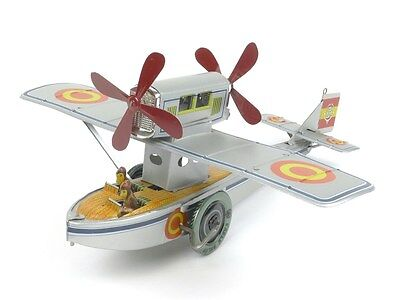 Paya P-916 Seaplane Tinplate Toys Spain Seaplane Limited Edition Model Push-Pull
