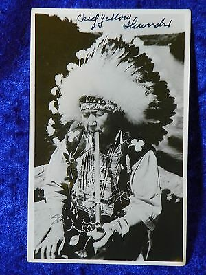 1940s or 1950s Chief Yellow Thunder Unposted Native American Photograph Postcard