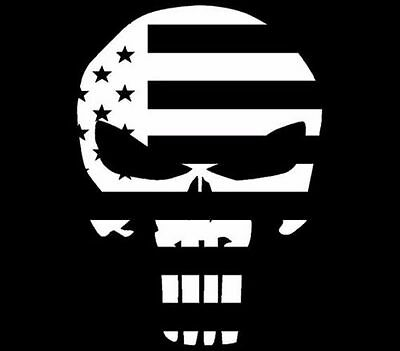 PUNISHER SKULL AMERICAN FLAG STICKER DECAL SNIPER MADE IN USA Buy 2, get 3rdFRE