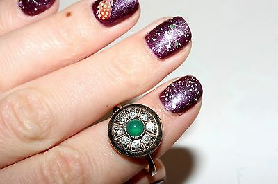 GORGEOUS Chrysoprase Vintage Ring Silver 925 USSR Soviet awesome!