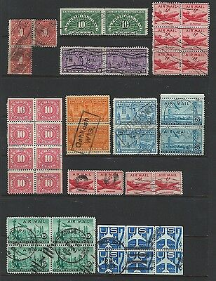 United States - Postage Due Special Delivery Airmail Used Lot