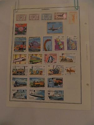 99 Cambodia postage stamps