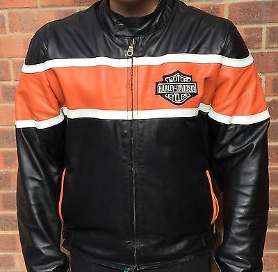 Men's Harley Davidson black leather jacket