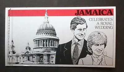 JAMAICA 1981 Royal Wedding BOOKLET. Mint Never Hinged. SGSB16.