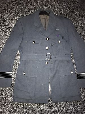 Vintage Females Officer RAF Uniform Coat Jacket Yellow Lapels