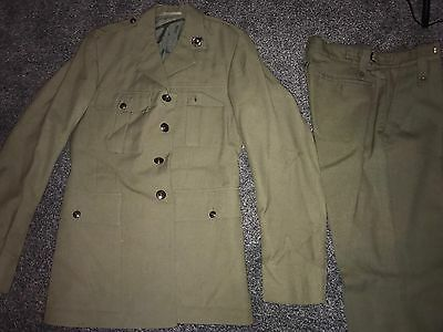 Vintage Army Officers Coat Trousers Named Uniform